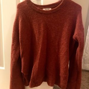 Rust-colored Madewell sweater